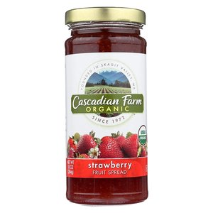 Cascadian Farm Organic Strawberry Fruit Spread, 284g