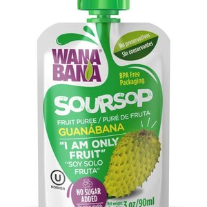 Wanabana Zuurzak Fruit Puree, 90g