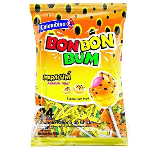 Colombina Bon Bon Bum Passion Fruit, 408g