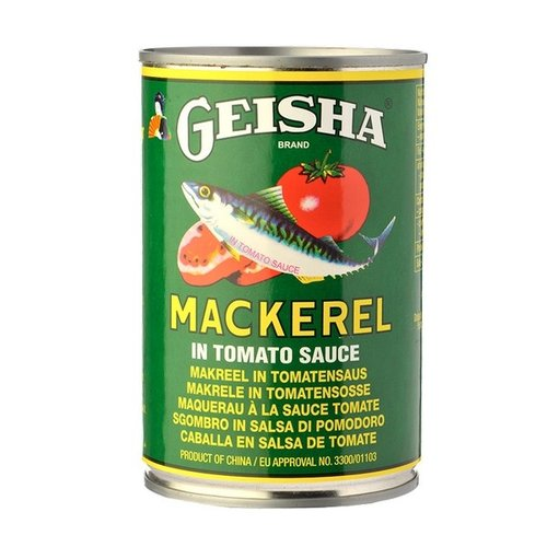 Geisha Brand Mackarel in tomato sauce, 425g