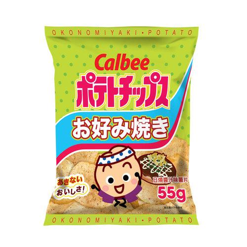 Calbee Potato Chips Okonomiyaki, 55g