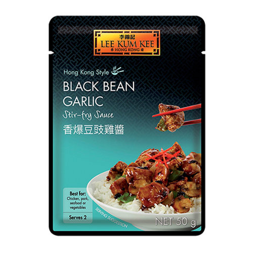 Lee Kum Kee Black Bean Garlic Stir Fry Sauce, 50g