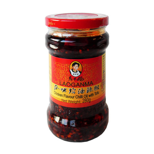 Lao Gan Ma Chicken Flavor Chilli Oil with Tofu, 280g