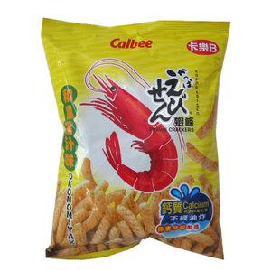 Calbee Calbee Garnalencrackers Okonomiyaki-smaak, 90 g