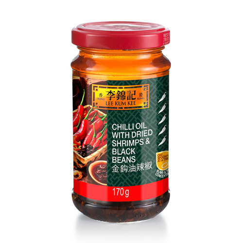 Lee Kum Kee Chilli Oil with Dried Shrimps & Black Beans, 170g