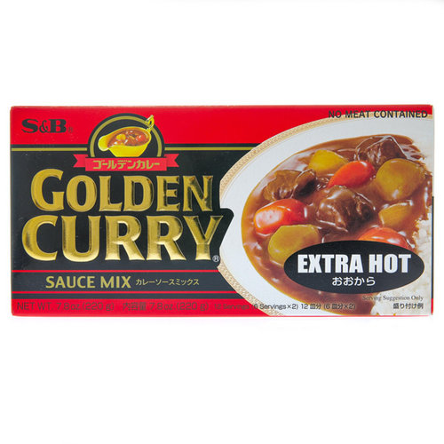 S&B Golden Curry Extra Hot, 220g