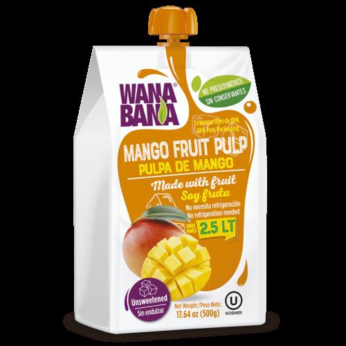 Wanabana Mango Fruitpulp, 500g