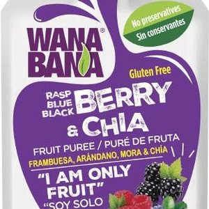 Wanabana Berry & Chia Fruit Puree, 90g