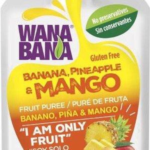 Wanabana Banana Pineapple & Mango, 90 g