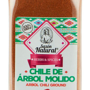 Sazon Natural Chile de Arbol Molido, 550g