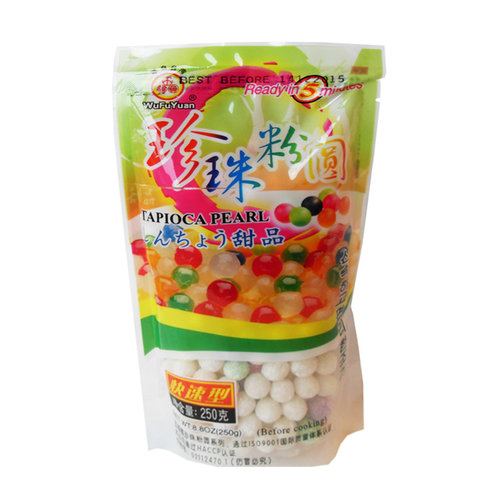 Wu Fu Yuan Color Tapioca Pearls, 250g