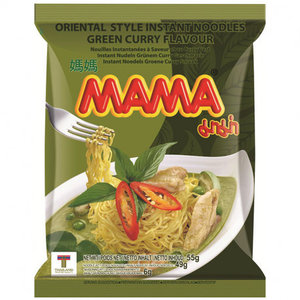 MAMA Instant Noodles Green Curry Flavour, 55g