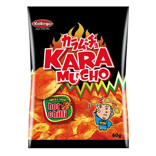 Koikeya Kara Mucho Potato Snack Flat, 60g