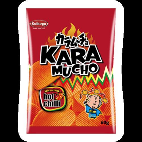 Koikeya Kara Mucho Potato Snack Ridged, 60g