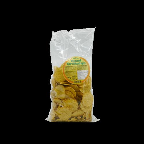 Tortilla Chips Naturel Round, 500g