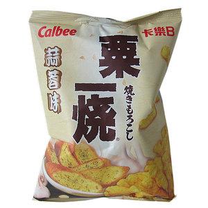 Calbee Corn Snack Garlic Flavor, 80g