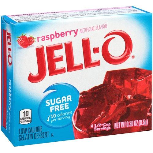 Jello Jello Raspberry Sugar Free, 8.5g