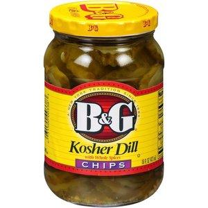 B&G B&G Kosher Dill Chips, 473ml