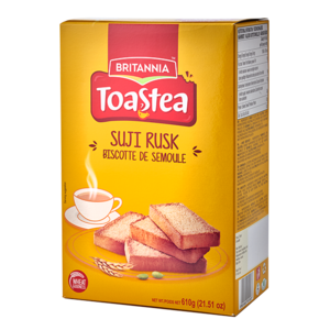 Britannia Toast tea Suji Rusk, 610g