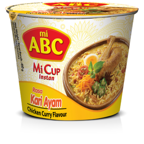 ABC Instant Mi Cup Kari Ayam Flavour, 60g