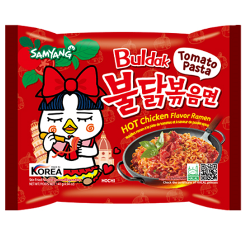 Samyang Hot Chicken Ramen Tomato Pasta, 140g