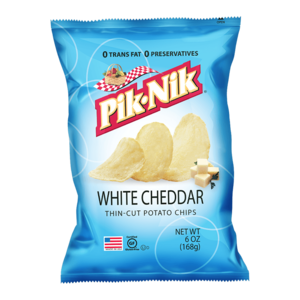 Pik-Nik White Cheddar Potato Chips, 170g