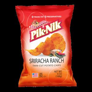 Pik-Nik Sriracha Ranch-aardappelchips, 170 g