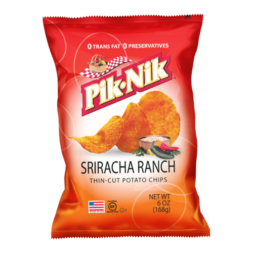 Pik-Nik Sriracha Ranch Potato Chips, 170g