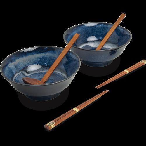 EDO JAPAN Ramen Bowl Set 22cm IZAYOI