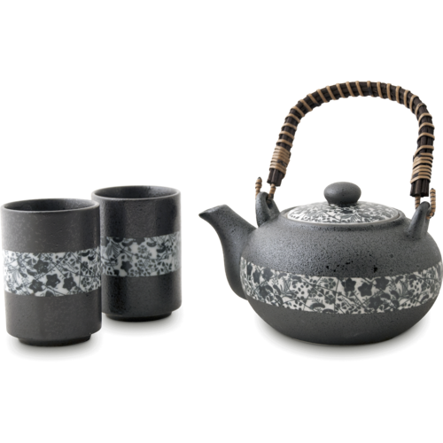EDO JAPAN Tea Set 500ml Flower Motive