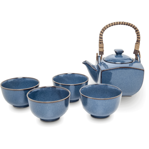 EDO JAPAN Tea Set 600ml Japanese Blue