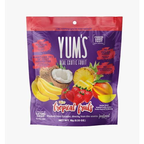 Yum's Crunchy MIX TROPICAL Bites, 10g