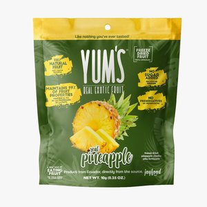 Yum's Crunchy PINEAPPLE Bites, 10g