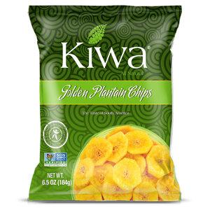 KIWA Golden Plantain Chips, 184g THT 10-07-21
