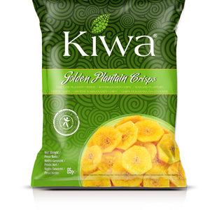 KIWA Golden Plantain Chips, 85g BBD 9-7-21
