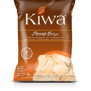 KIWA Parsnip Crisps, 55g BBD 9-7-21