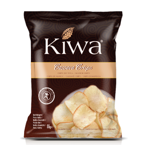 KIWA Cassava Crisps, 55g BBD 9-7-21