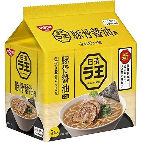 Nissin Raoh Premium Instant Noodles Tonkotsu Shoyu, 5x102g
