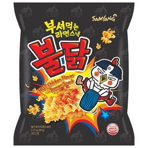 Samyang Hot Chicken Flavor Ramen Snack, 90g