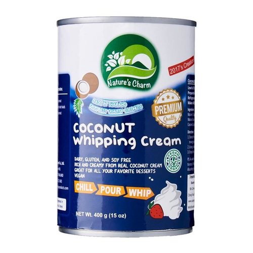 Nature's Charm Coconut Whipping Cream, 400ml