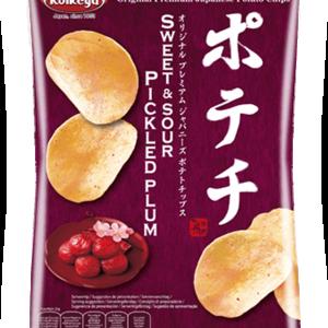 Koikeya Potato Chips Sweet Sour Pickled Plum, 100g