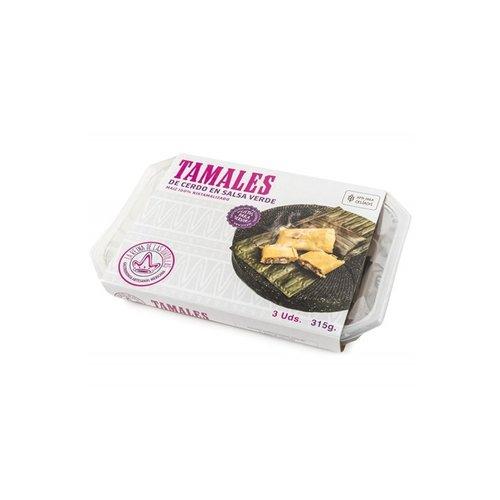 La Reina de las Tortillas Tamales Cerdo En Salsa Verde, 315g