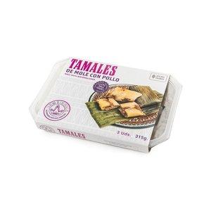 La Reina de las Tortillas Tamales Mole Con Pollo, 315g