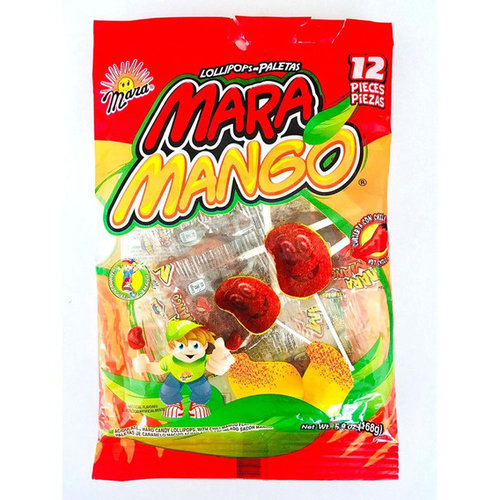 Mara Mara Mango Chile Lollipos, 168g