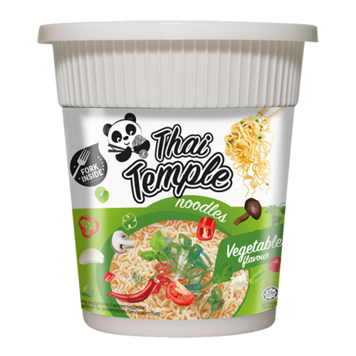 Thai Temple Panda Cup Noodles Vegetable, 60g