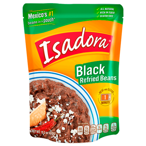 Isadora Isadora Refried Black Beans, 430g