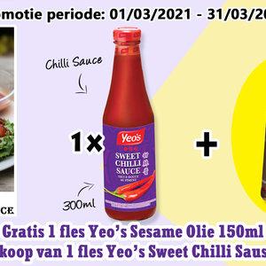 Yeo's Yeo's Sweet Chilli Sauce + Free Sesame Oil