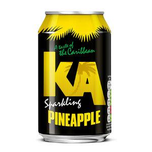 KA KA Sparkling Pineapple, 330ml