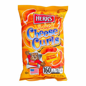 Herr's Baked Cheese Curls, 198g