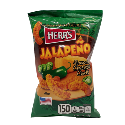 Herr's Jalapeno Cheese Curls, 28g